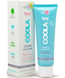 COOLA Mineral Face Sunscreen Tinted Rose Essence SPF 20 - 50 ml