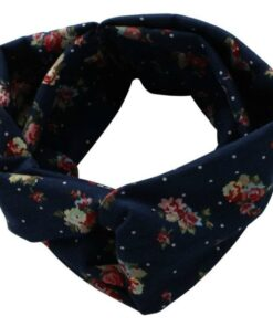 Everneed Annemone Headband Navy W. Flowers and Dots (5831)