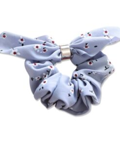 Everneed Bow Scrunchie - Baltic Blue (5211)