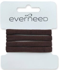 Everneed Plain Soft Rubber Hair Elastics - Cacao (4214)