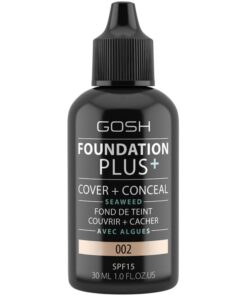 Gosh Foundation Plus+ Cover + Conceal SPF15 30 ml - 002 Ivory