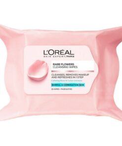 L'Oreal Paris Skin Cleansing Rare Flower Cleansing Wipes Normal & Comb. Skin 25 wipes (U)