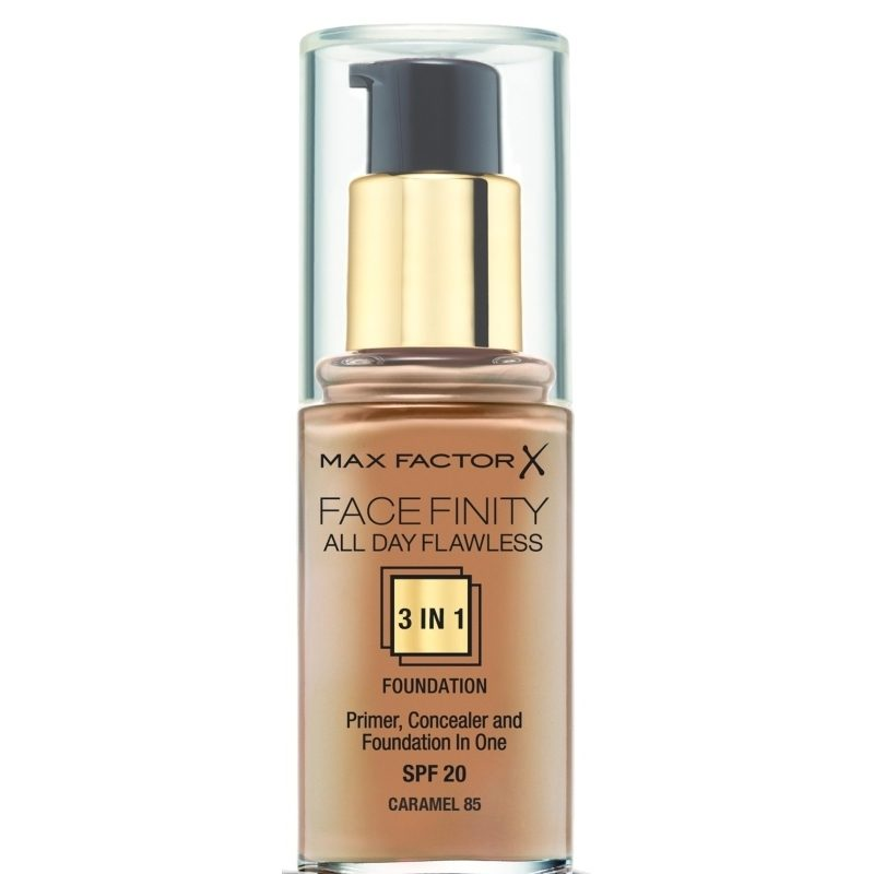Max Factor Face Finity All Day Flawless 3In1 Foundation Spf 20 - 30 ml - Caramel 85