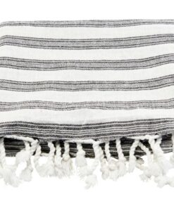 Meraki Hammam Towel White W. Black Stripe (Mkan09)