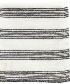 Meraki Washcloth White W. Black Stripe 3 Pieces