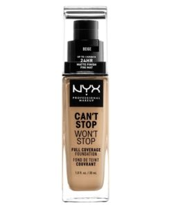 NYX Prof. Makeup Can't Stop Won't Stop Foundation 30 ml - Beige (U)