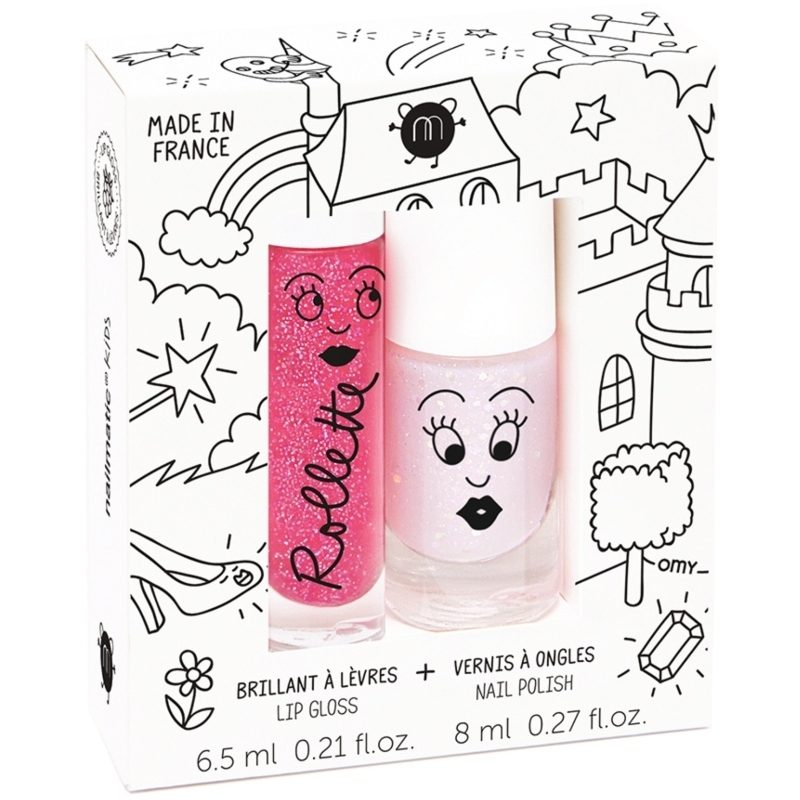 Nailmatic Kids Lip Gloss And Nail Polish Set - Fairytales