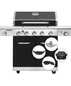shop Nexgrill gasgrill inkl. Pro-Touch tilbehør - Deluxe 5B++ af Nexgrill - shopping hos shoppetur.dk