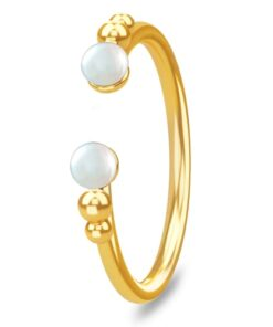 shop Spinning Jewelry ring - Open pearl - Forgyldt sterlingsølv af Spinning Jewelry - shopping hos shoppetur.dk