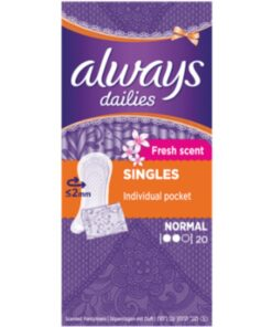 Always Dailies Individually Wrapped Scented Pantyliners 20 Pieces