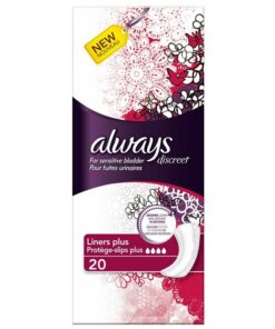 Always Discreet Liners Plus 20 Pieces