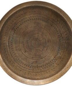 House Doctor Tray Jhansi Antique Brass Finish