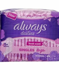 Always Dailies Singles To Go Panty Liners 20 Pieces