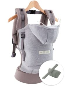 shop Love Radius bæresele - Hoodie Carrier Bundle - Athletic Grey af Love Radius - shopping hos shoppetur.dk
