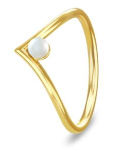 shop Spinning Jewelry ring - Victory pearl - Forgyldt sterlingsølv af Spinning Jewelry - shopping hos shoppetur.dk