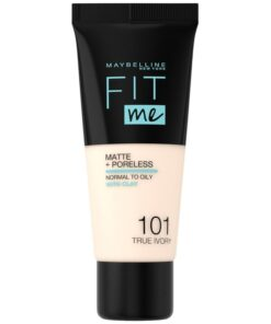 Maybelline Fit Me Matte + Poreless Foundation Normal To Oily 30 ml - 101 True Ivory (U)