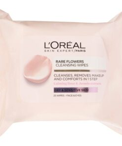 L'Oreal Paris Skin Cleansing Rare Flower Cleansing Wipes Dry & Sensitive Skin 25 wipes