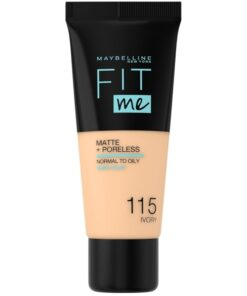 Maybelline Fit Me Matte + Poreless Foundation Normal To Oily 30 ml - 115 Ivory