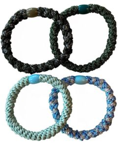 By Stær BRAIDED Hairties 4 Pieces - Blue Mix